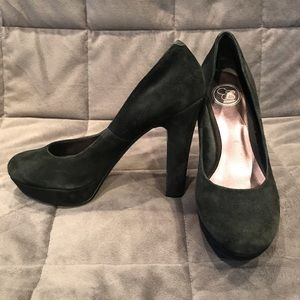 Jessica Simpson Black Suede Platform Heels